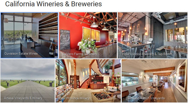 california wineries and breweries 360